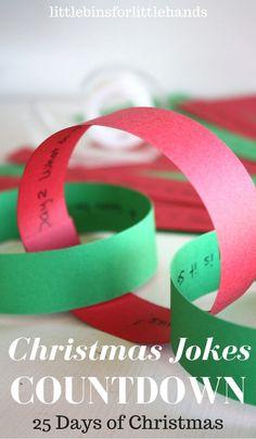 25 Days of Christmas Jokes Countdown Calendar and Advent Idea for Kids