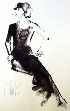 Coco Chanel fashion illustration