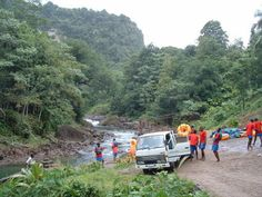 dominica | Dominica - Getting Ready for Tubing Ride on the Layou River