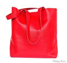 Handmade leather bag shopper. Made in Ukraine