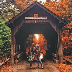 "kieljamespatrick: "" Fall in Love, Loving Fall.  (at Swamp Meadow Covered Bridge)  Engagement photos ~ ~ """