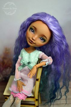 Cute OOAK Cedar Wood Ever After High repaint by Madam Bu | Dolls & Bears, Dolls, Art Dolls-OOAK | eBay!