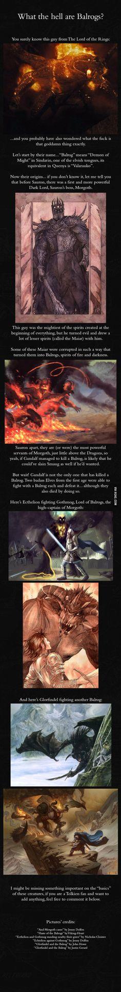 The Balrogs - J.R.R. Tolkien's mythology
