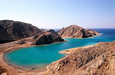 Egypt, desert of Sinai, the Fjord, near Taba, at the shores of the Red Sea