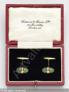 FABERGÉ Karl (Carl), 1846-1920 (Russia) Title : Cuff-links Date :   Category : Jewellery Medium : : A pair: gold