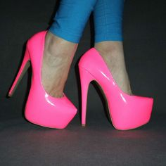 glowing and shining and stunning and awesome and and and… Very High Heels, Pink High Heels, Hot High Heels, High Heel Pumps, Pumps Heels, Stiletto Heels, Stripper Heels, Platform Shoes Heels, Beautiful Heels