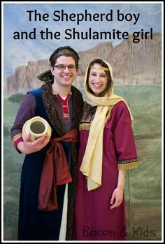 the shepherd boy and the shulamite girl costumes - bible character costume party