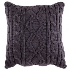 Knitted - Coal knit cushion - To buy
