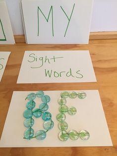 Sight Words~ Reggio Emilia Inspiration.