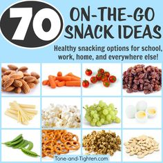 70 Portable Healthy Snacks | Tone and Tighten
