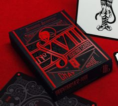 "Looking forward to these! Place my order! No.17 ""Le Chat Rouge"" - Poker Size Playing Cards by Requiem Team — Kickstarter"