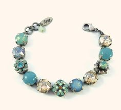 Swarovski crystal tennis bracelet Calypso 11mm by SiggyJewelry, compare to Sabika and Mariana