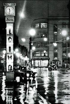 1960 год. Rīga pusnakts stundā («Dzintarzeme Latvija». Latvijas Valsts izdevniecība. Rīgā) Places To Travel, Travel Destinations, Riga Latvia, Modern City, Back In Time, City Life, Old Town, Tours, World