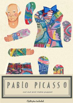 Paper Puppets, Paper Toys, Pablo Picasso Drawings, Reuse Old Clothes, Paper Dolls Clothing, Origami, Rainy Day Activities, Vintage Paper Dolls, Painted Paper