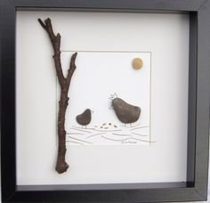 Scottish pebble art pictures: Chicken by PebblePictures on Etsy