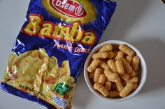 A healthy, crunchy and peanut-buttery snack for a midday slump. Bamba!