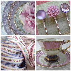 Lilac & pink - vintage glam collage. Purple Wedding, Wedding Flowers, Dream Wedding, Dusty Purple Bridesmaid Dresses, Tea Rose Garden, All Things Purple, Lavender Color, Violet, Dusty Rose