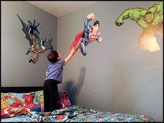 little boy superhero room - Google Search