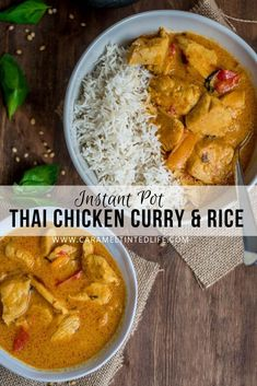 Instant Pot Thai chicken curry and rice is a one-pot chicken and rice meal that can be made together in the Instant Pot. The perfect low-effort meal, ready on the table in under 30 minutes! Curry Chicken And Rice, One Pot Chicken, Coconut Curry Chicken, Thai Coconut, Thai Yellow Chicken Curry, Curry Rice, Best Instant Pot Recipe, Instant Pot Dinner Recipes, Pressure Cooker Chicken