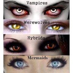 Contact lenses totally go for werewolf and hybrid