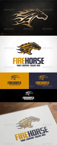 Fire Horse Logo Template - Animals Logo Templates