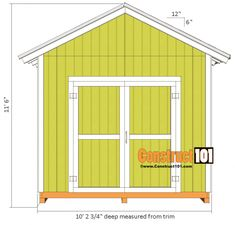 Considering a garden shed? Thinking about building it yourself? Then before you embark on your project make sure you have a reliable shed plan for the design 10x10 Shed Plans, Shed Floor Plans, Shed Building Plans, Barn Plans, House Plans, Prefabricated Sheds, 10x20 Shed, Diy Storage Shed Plans, Storage Sheds