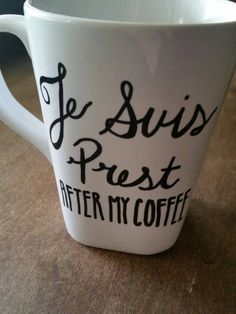 Outlander Inspired Coffee Mug. Je Suis Prest. by BettyLousBeauties