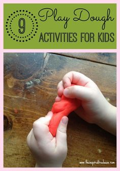 A well activities and plays on pinterest for Playdough fine motor skills