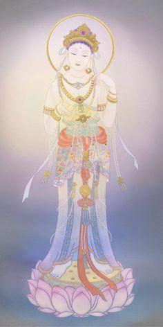 宝珠観音 Spiritual Images, Buddha Art, Buddha Buddhism, Guanyin, Sacred Art, Gods And Goddesses, Chinese Art, Asian Art, Buddhists