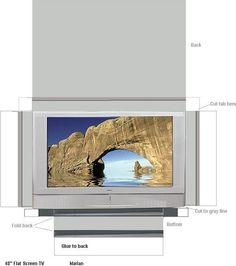 Free Printable Flat Screen Television - Use Cardstock