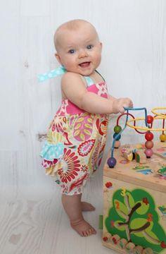 Baby Natalie's Ruffle Butt Romper  - via @Craftsy