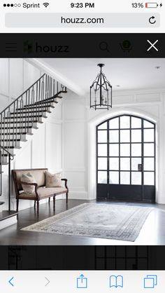 Great, simple entry and stair