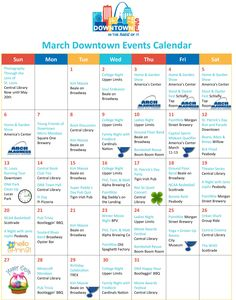 March Downtown Events Calendar