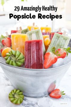A popsicle mould! How to make popsicles. 30 great recipes