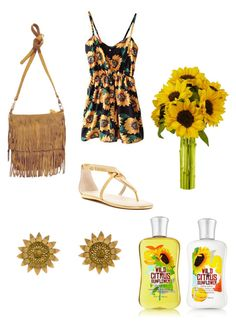 """Sweet Sunflower part 1"" by jfreeman-ii ❤ liked on Polyvore featuring Franco Sarto, Urban Originals and Bielka"