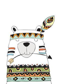 Impresión de vivero Estampados tribales por TheKidsPrintStore