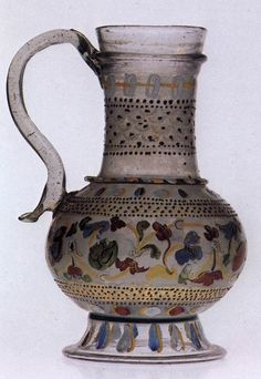 Venetian Glass Carafe with Enamel Decoration 15th c.