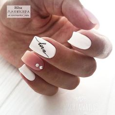Trendy Nails Design White Tips Pink Ideas Dream Nails, Love Nails, Pink Nails, My Nails, Girls Nails, White Tip Nails, Nagel Hacks, White Nail Designs, Cute Acrylic Nails