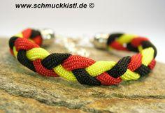 Deutschland Armband WM schwarz rot gold von www.Schmuckkistl.de auf DaWanda.com