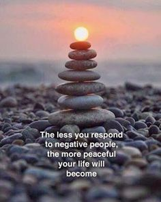 How do you respond to negative people?