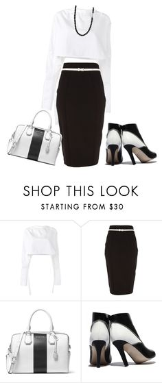"""""""Untitled #2503"""" by mrsdarlene ❤ liked on Polyvore featuring E L L E R Y, River Island, MICHAEL Michael Kors and Shamballa Jewels"""