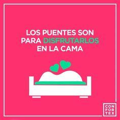 Este puente no pienso salir de la cama, de la tuya quiero decir   #puentedemayo #mayo #puente…Este puente no pienso salir de la cama, de la tuya quiero decir     #condones #condoms #safesex #sexoseguro #hot #cool #art #color #love #amor #lovers #happy #instagood #feliz #insta #beso #besos #kiss #instragram #frase #instalove #enjoy #divertido #sexshop #sexshoponline #tiendaonline #frases #puentedemayo #mayo #puente #finde #primavera #cama #pareja #puente #escapada #viaje #hotel #relax…