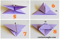 Gấp hình con bướm bằng giấy_bước 2