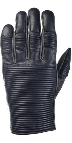 RIDE&SONS Emblem Leather Gloves Black / Charcoal