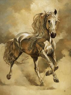 by Heather Theurer Pferde in Kunst & Bildern :-) Horse Drawings, Animal Drawings, Pretty Horses, Beautiful Horses, Art Triste, Arte Equina, Horse Posters, Horse Artwork, Painted Pony