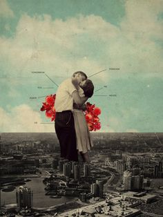 """""""NeverForever"""" by Frank MothDigital Vintage Collage//  """"Their lips were joined forcefully. A silent promise to forever create new meanings.""""  //Available in redbubble and society6http://www.redbubble.com/people/frankmoth/works/15238876-neverforever?ref=recent-ownerhttp://society6.com/product/neverforever_print#1=45"""