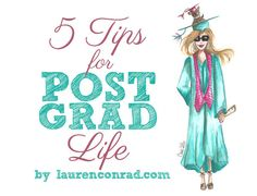 Love these!!! 5 tips for life after graduation