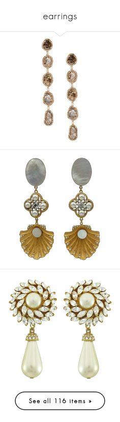 """earrings"" by mystical-anya ❤ liked on Polyvore featuring jewelry, earrings, accessories, brincos, metallic, diamond jewellery, long earrings, 18k diamond earrings, diamond earring jewelry and 18k jewelry"