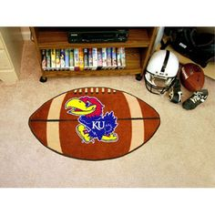 Kansas Jayhawks NCAA Football Floor Mat (22x35)