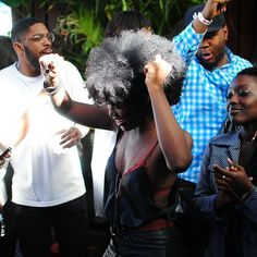 Everyday People NYC @everydaypplnyc: The dancing fro!  Natural hair. Afro hair. Frizzy curls. Kinky curly coily hair.